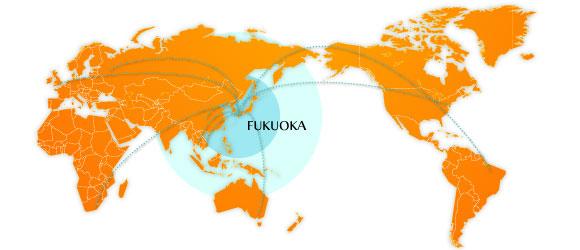 海外からのアクセスの世界地図