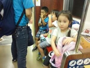 電車移動②